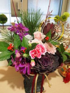 2012年正月用の花。