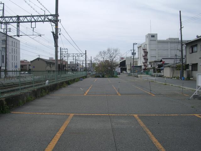 以前、線路のあった所
