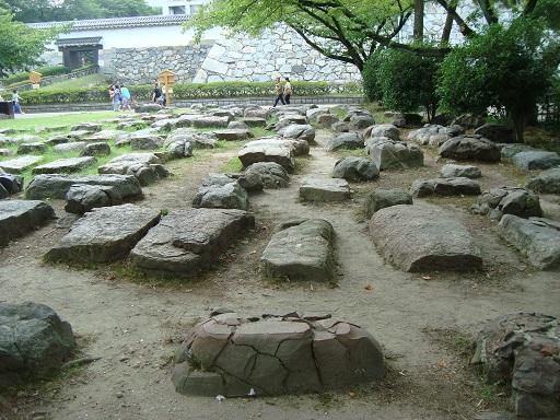 名古屋城天守礎石