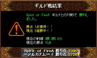 Spirit of FireA 11月27日