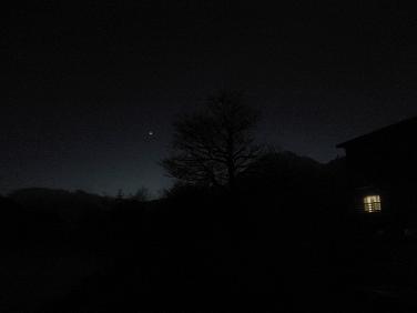 焼岳と金星