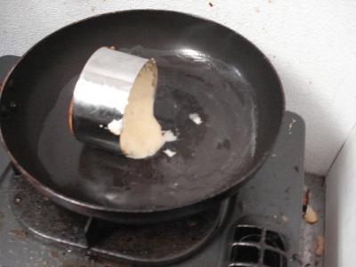 セルクルでホットケーキ