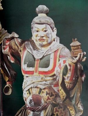 後世彩色された浄楽寺・毘沙門天像