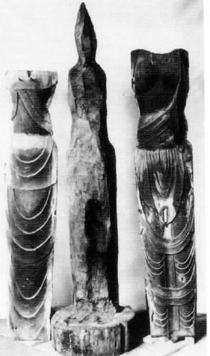 塑像心木と体幹部