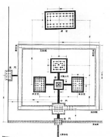 飛鳥寺伽藍配置図