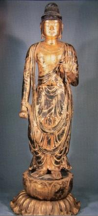 左脇侍・日光菩薩立像