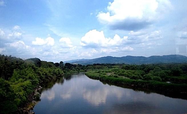 阿弥陀寺の南を流れる木津川