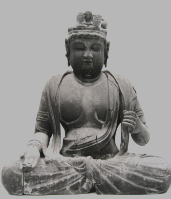甘露寺十一面観音坐像(修理前)写真