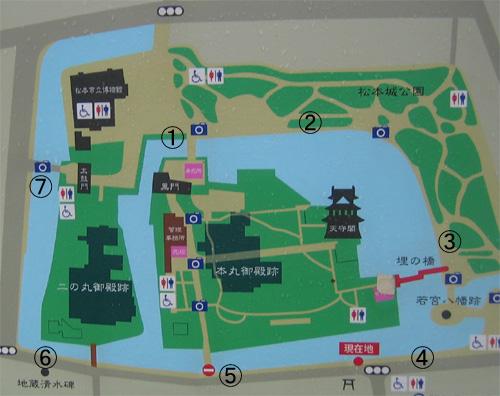松本城現在地図