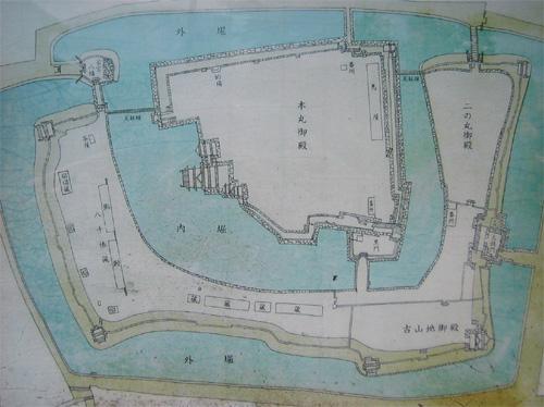 松本城復元地図