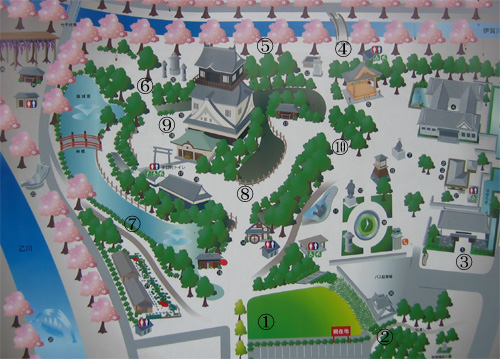 岡崎城地図