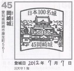 岡崎城スタンプ