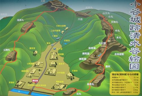 小谷城地図