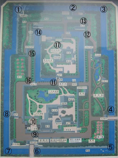 二条城地図