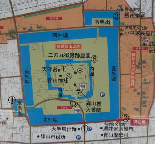篠山城地図