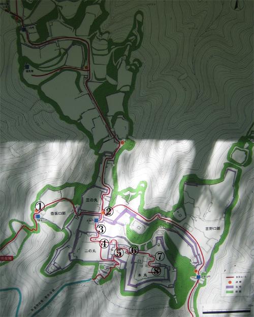 高取城地図