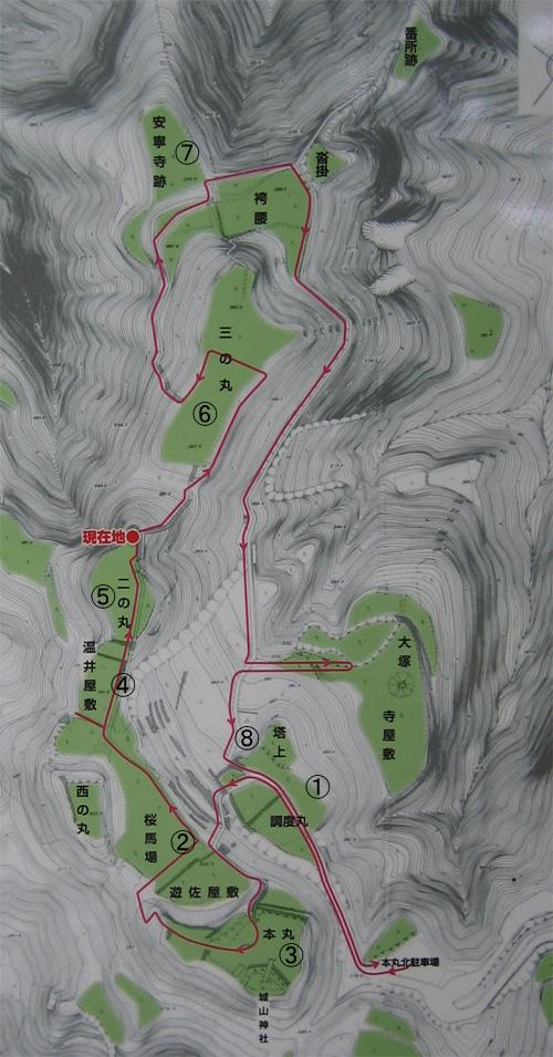 七尾城地図