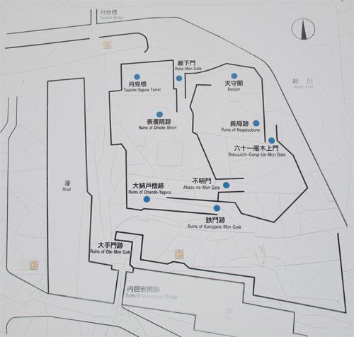 岡山城狭域地図