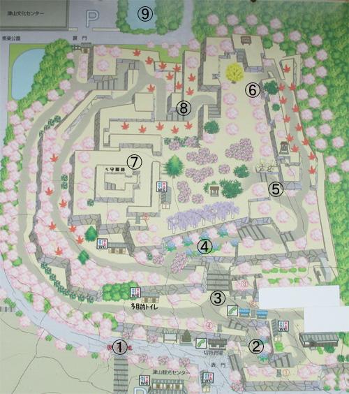 津山城地図