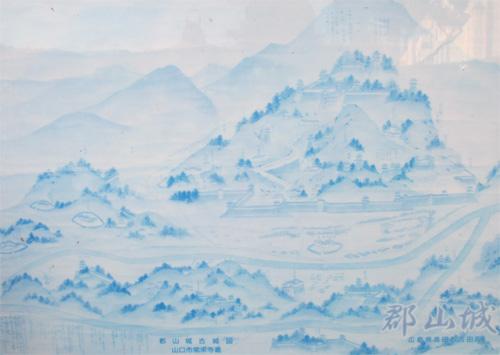 吉田郡山城古図