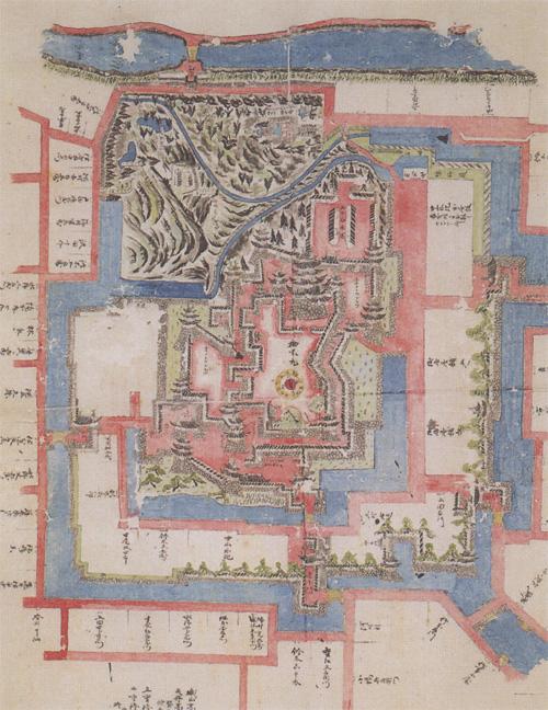 福山城古図