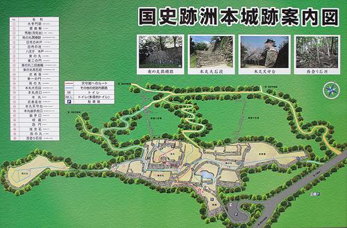 洲本城地図1