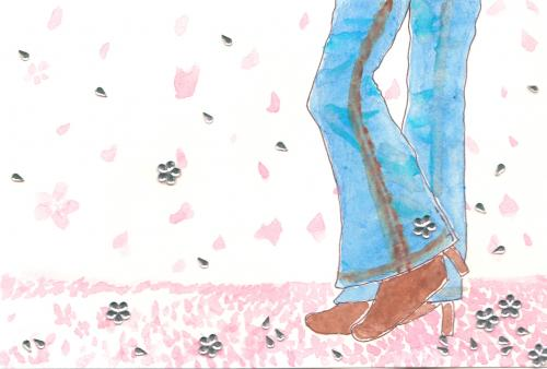 作品「桜とジーンズ」