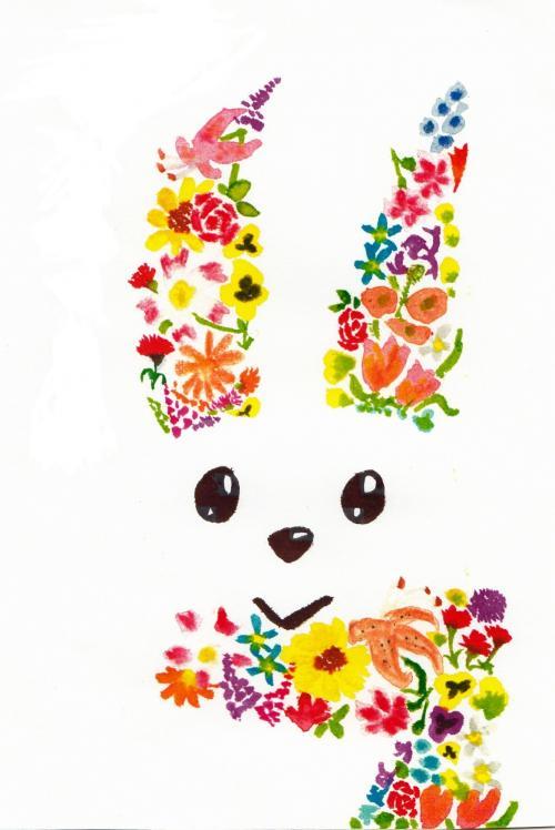 作品「花ウサギ」