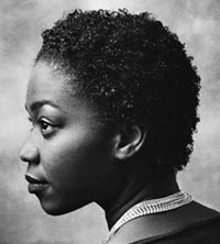 101029黒人女性の横顔2