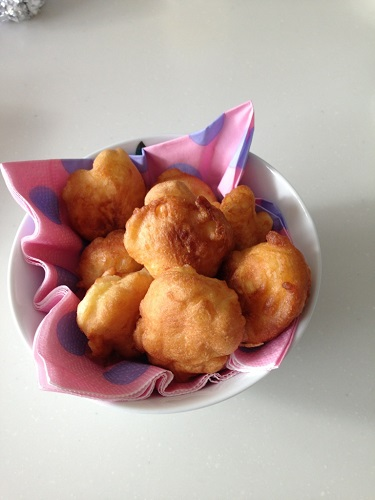 ブラジル風りんごドーナツ「ソニオス」