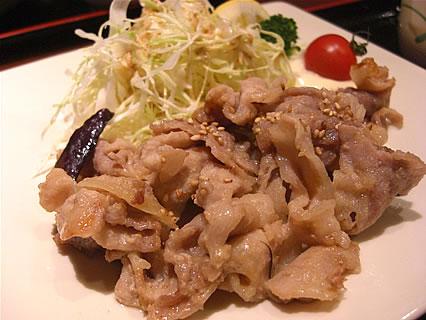 寧々家 弘前駅前店 日替り御膳の豚肉の味噌炒め