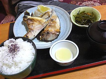 食事処 味喜や カンパチかま・かぶと焼セット定食(680円)