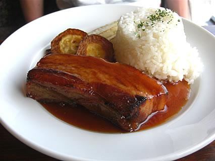 喫茶らあく 本日のランチセット② 豚肉のキャラメリゼ(1050円)