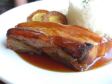 喫茶らあく 本日のランチセット② 豚肉のキャラメリゼ