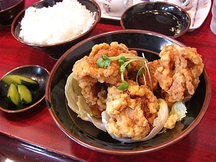 中華料理みんぱい 城東店 油淋鶏定食(850円)