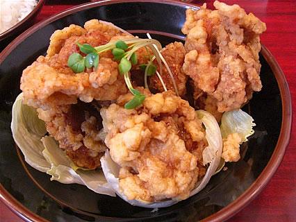 中華料理みんぱい 城東店 油淋鶏定食 油淋鶏
