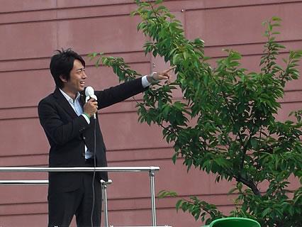 自民党 遊説・演説会(さくら野弘前店前) 小泉進次郎-4
