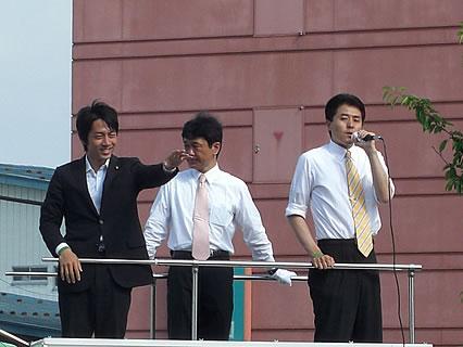 自民党 遊説・演説会(さくら野弘前店前) 小泉進次郎-2