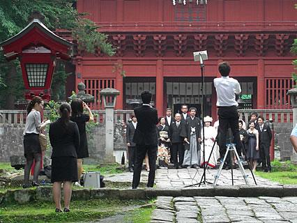 岩木山神社 神前結婚式 写真撮影