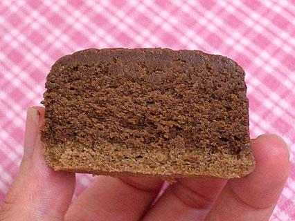 洋菓子のル・ポエム 窯出しショコラ 断面