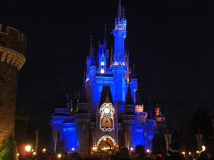 東京ディズニーランド ライトアップ(シンデレラ城)