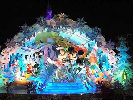 東京ディズニーランド ライトアップ(ミッキーとミニー)