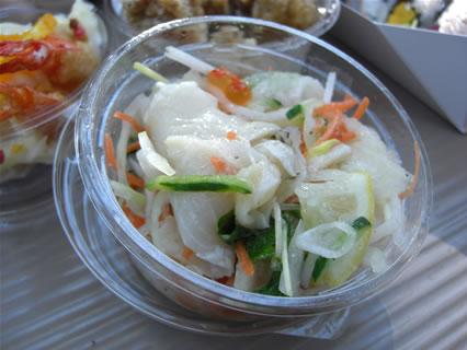 IKSPIARI(イクスピアリ) 柿安ダイニング(Kakiyasu Dining) スズキのカルパッチョ風サラダ(100g 420円)