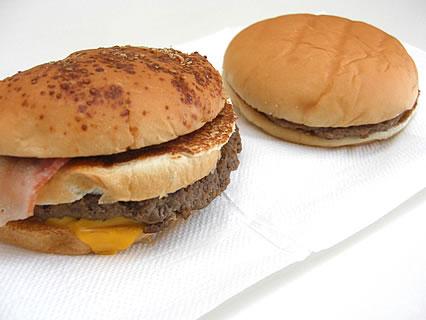 マクドナルド Big America2(テキサス2バーガー) ハンバーガーとの比較