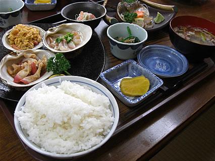 とわだっ湖 ホッキづくし定食(900円)