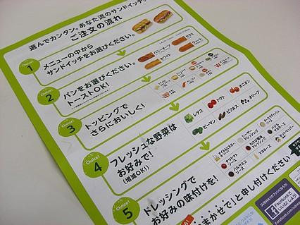 サブウェイ 青森浜田ドリームタウンALi店 ご注文の流れ