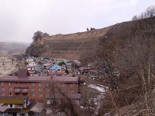笹平急傾斜全景