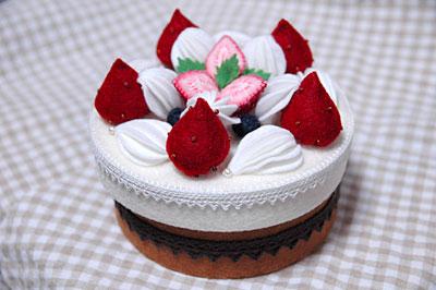 フェルトのケーキ1