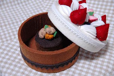 フェルトのケーキ3