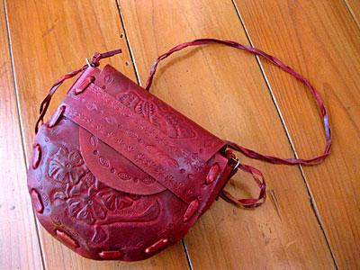 革の手作りバッグ